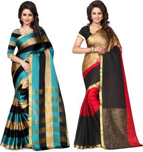 Pehnava Solid, Self Design Banarasi Art Silk Sari