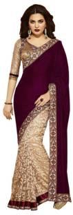 Divi Embroidered Bollywood Velvet Sari