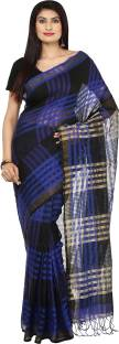 The Weave Traveller Checkered Kota Doria Cotton, Silk Cotton Blend Saree
