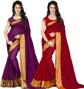 Cozee Shopping Self Design Bollywood Polycotton Sari