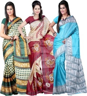 Flipkart Kajal Saree Art Silk Saree Combo Offer