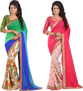 Flipkart Bluebirdimpex Printed Combo Saree Offers