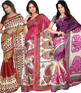 Ajamukhi Printed Bollywood Art Silk Sari