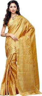 Mimosa Woven Kanjivaram Tussar Silk Sari