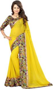 Livie Floral Print Fashion Georgette Sari