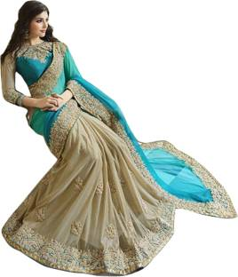 Go4Fashion Embroidered Fashion Georgette Sari