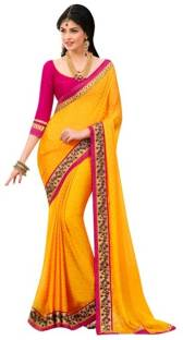 Ujjwal Creation Embroidered Fashion Georgette Sari