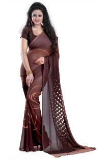 Heena Solid Bollywood Georgette Sari