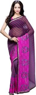 Hitansh Fashion Embroidered Fashion Georgette Sari