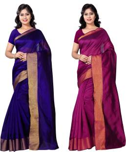 VIMALNATH SYNTHETICS Solid Fashion Cotton Saree