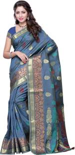 Mimosa Printed Kanjivaram Handloom Tussar Silk Sari