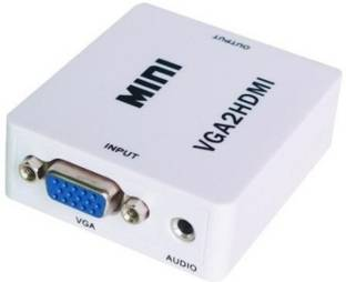 Vga to hdmi converter buy vga to hdmi cables adapters online karp mini vga audio to hdmi 1080p converter adapter white media streaming device publicscrutiny Images