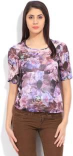 Wrangler Women's Printed Formal Multicolor Shirt