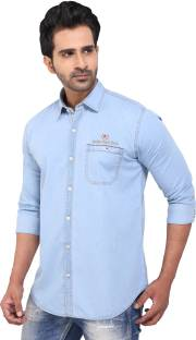 49d191e55ba Rockstar Jeans Men s Solid Casual Shirt - Buy Blue-01 Rockstar Jeans ...