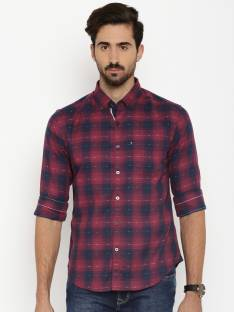fd6de9c83 Harvard Men's Solid Casual Blue Shirt - Buy Clean Sky Harvard Men's ...
