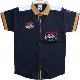 1638c76e Font Kids Boys Solid Casual Shirt - Buy Brown Font Kids Boys Solid ...