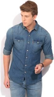 c915d504c9 Levi s Men s Solid Casual Light Blue Shirt - Buy Blues Levi s Men s ...
