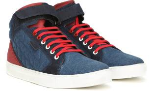 best cheap aca95 42dcf Ruosh Genuine Leather Mid Ankle Sneakers For Men