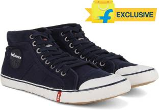 Lee Cooper Men Mid Ankle Canvas Sneakers