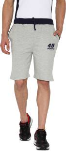 Rodid Solid Men's Grey Sports Shorts