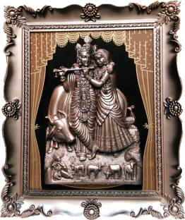 15b381299ffc JaipurCrafts Radha-Krishna With Curtain Design Photo Frame Decorative  Showpiece - 46 cm