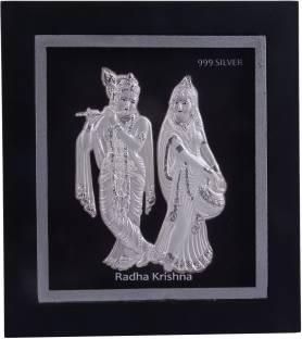 1d799e3ee52a Siri Creations 999 Pure Silver Radha Krishna Acralyic Frame Decorative  Showpiece - 15 cm