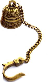 615cae3c183 Ratnatraya Indian Small Brass Bell Hanging For Pooja Room and Living ...