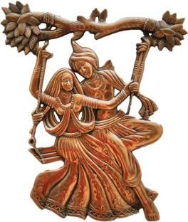 c3fa1ddde09f JaipurCrafts Matel Wall Hanging Of Radha Krishna On Swing Decorative  Showpiece - 45.72 cm