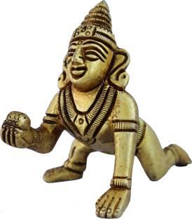 Aakrati Baby Krishna Statue Made of Brass Showpiece  -  6 cm