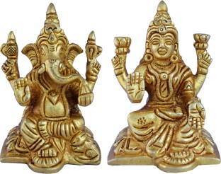 Aakrati Laxmi Ganesha Pair in Yellow Finish