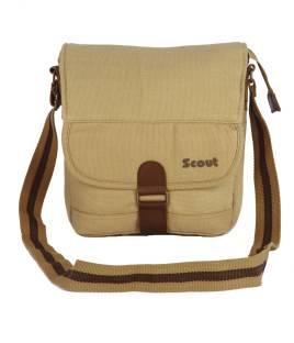 U.S. Polo Assn. Men   Women Casual Beige, Brown Canvas Sling Bag ... 0cd338e564