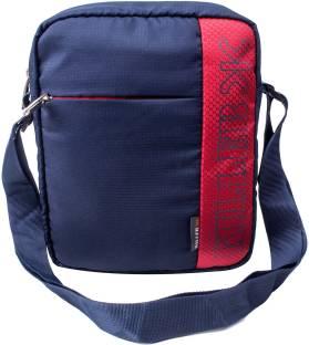 8c0f163a6542 Killer Men Casual Blue Polyester Sling Bag