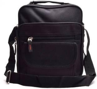 Anni Creation Men Formal Black Polyester Sling Bag 052a8f5b36a91
