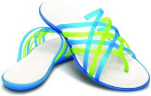 240a7ebb81ba Crocs Huarache Women Flip Flops - Buy Multicolor