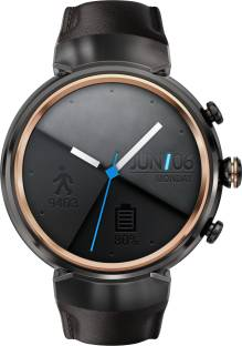 Asus Zenwatch 3 Gunmetal with Dark Brown Leather Strap For Women and Men