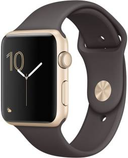 Apple Watch Series 1 - 42 mm Gold Aluminium Case with Cocoa Sport Band Cocoa Smartwatch