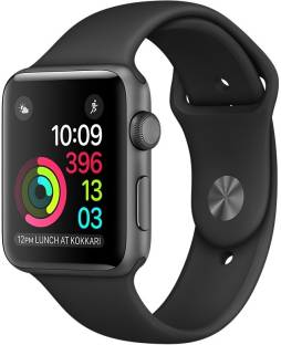 Apple Watch Series 2 - 38 mm Space Gray Aluminum Case with Black Sport Band Black Smartwatch