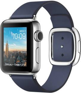 Apple Watch series 2 - 38 mm Stainless Steel Case with Midnight Blue Modern Buckle - Large Smartwatch