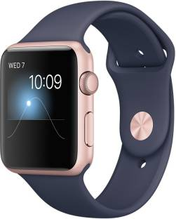 Apple Watch Series 1 - 42 mm Rose Gold Aluminium Case with Midnight Blue Sport Band Midnight Blue Smartwatch