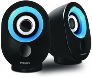 Philips IN SPA50B/94 3 W Portable Laptop/Desktop Speaker Blue, 2.0 Channel