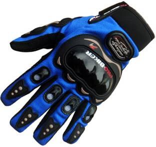 meenu arts PRO-BIKER-Blu-M-8 Riding Gloves
