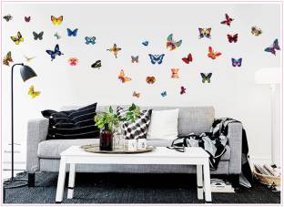 JAAMSO ROYALS Medium 2d Butterfly Wall Stickers