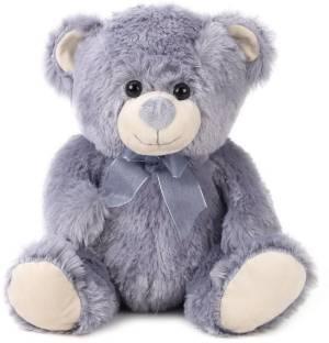 Starwalk Teddy Bear Plush Grey with Bow - 14 inch