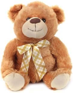 Starwalk Teddy Bear Plush Brown with Multicolor Bow - 14.5 inch
