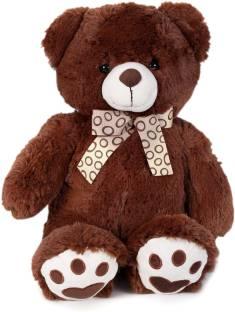 Starwalk Classic bear with Ribbon Dark brown - 55 cm