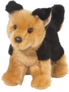 Toys R Us Plush 9 Inch German Shepherd Black And Tan Plush 9 Inch