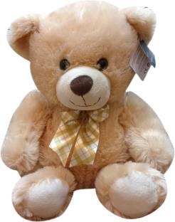 Starwalk Teddy Bear Plush Beige with Multicolor Bow - 14.5 inch