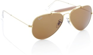 Ray-Ban Aviator Sunglasses (Golden Brown)