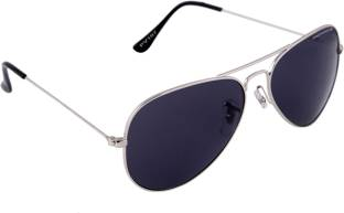 Provogue PV1007-Sil-Blk Aviator Sunglasses
