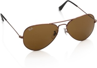 Ray-Ban Aviator Sunglasses (Brown)
